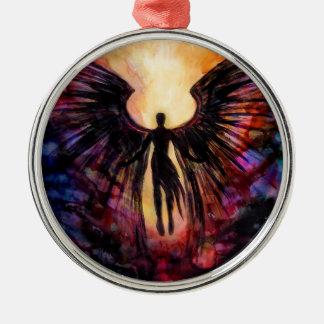 Gefallener Engel - zeitgenössische Malerei Silbernes Ornament
