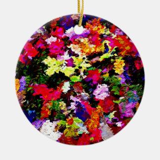 Gefallener Herbst verlässt abstrakt Keramik Ornament