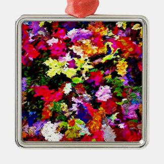 Gefallener Herbst verlässt abstrakt Silbernes Ornament