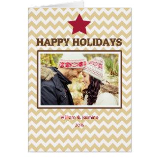 Gefaltete Weihnachtskarte Stern-Zickzack Browns Karte
