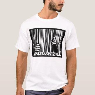 Gefangen gesetzt durch den Barcode T-Shirt