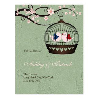 Gefangene des Liebe-Wedding Programms Postkarte