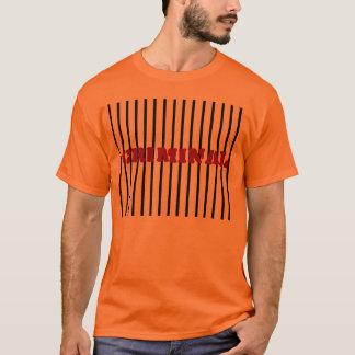 Gefängnis-Streifen, KRIMINELL T-Shirt