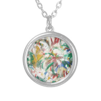 Gefärbt Fingerpaint Kunst Personalisierte Halskette