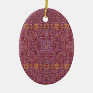 gefärbt ovales keramik ornament