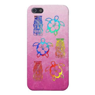 Gefärbte Krawatte Honu und Tiki Maske iPhone 5 Cover