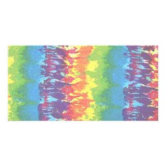 Gefärbte Krawatte Individuelle Foto Karten