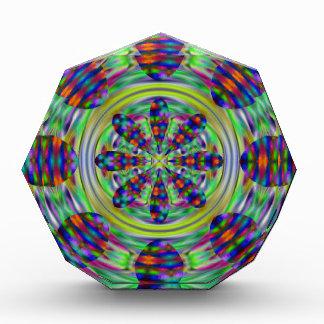 Gefärbte Krawattehippie-Kaleidoskop-Wirbel Acryl Auszeichnung