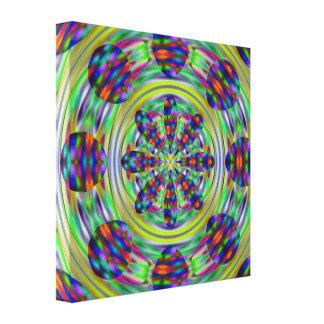 Gefärbte Krawattehippie-Kaleidoskop-Wirbel Leinwanddruck