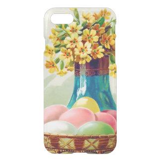 Gefärbter Ostern-Korb Eggs Vasen-Gänseblümchen iPhone 8/7 Hülle