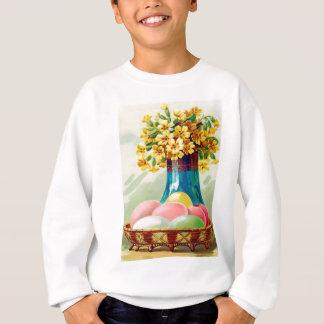 Gefärbter Ostern-Korb Eggs Vasen-Gänseblümchen Sweatshirt
