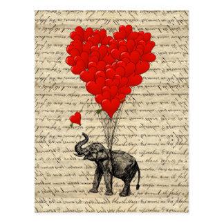 Geformte Ballone des Elefanten und des Herzens
