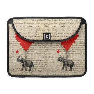 Geformte Ballone des Elefanten und des Herzens Sleeve Für MacBooks
