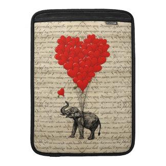 Geformte Ballone des Elefanten und des Herzens Sleeve Fürs MacBook Air