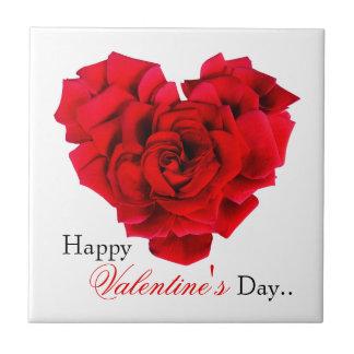 Geformte Liebe des Rosenherzens Fliese