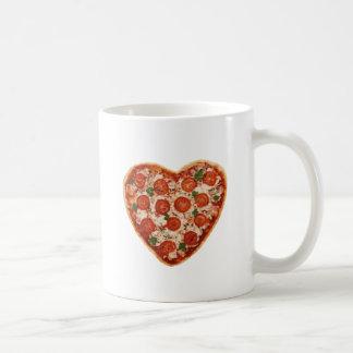 geformte Pizza des Herzens Kaffeetasse