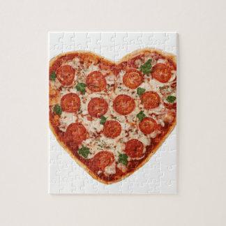 geformte Pizza des Herzens Puzzle