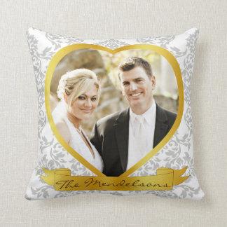 Geformtes Foto des personalisierten Herzens Kissen