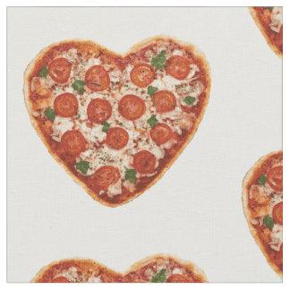 geformtes Pizzagewebe des Herzens Stoff