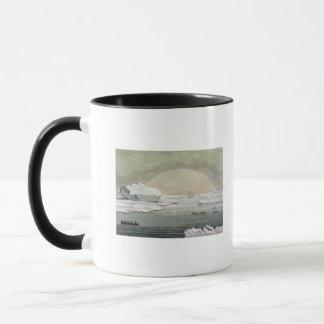 Gefrieren-im britischen Walfängerboot wird durch Tasse