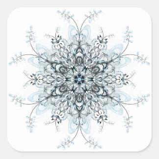 Gefrorene Bluebells Quadratischer Aufkleber