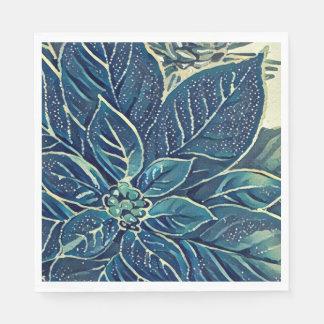 Gefrorene Feiertags-Poinsettia-Servietten Papierservietten