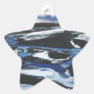 Gefrorener Knik Fluss Stern-Aufkleber