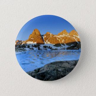 Gefrorener Minaret See-Sonnenaufgang - Sierra Runder Button 5,7 Cm
