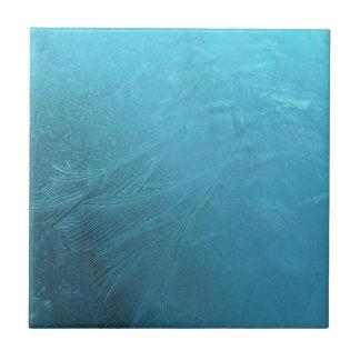 Gefrorener schicker Winter Wasser-Eis-Blau-Frosts Fliese