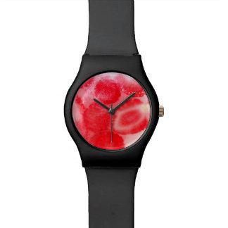 Gefrorener Sommer-fruchtige Erdbeeren Handuhr