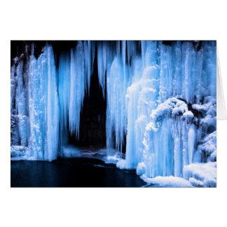 Gefrorener Wasserfall Grußkarte