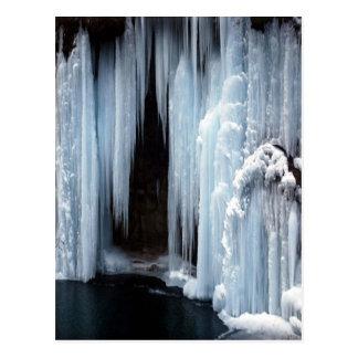 Gefrorener Wasserfall Postkarte