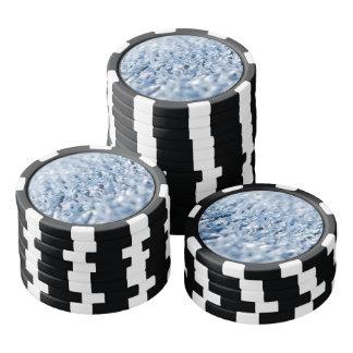 Gefrorener Winter-Hintergrund Poker Chips Set