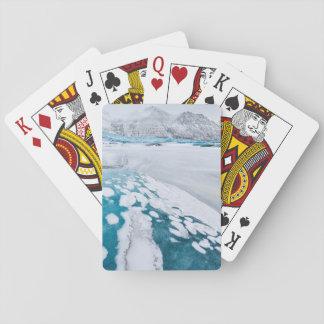 Gefrorenes Gletschereis, Island Spielkarten