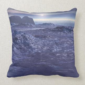 Gefrorenes Meer von Neptun Kissen