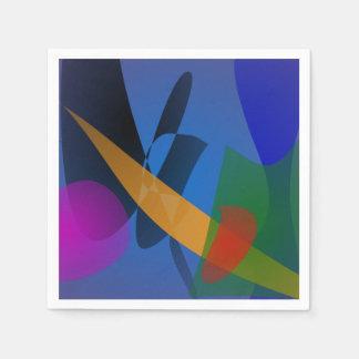 Gefühl-abstrakte Kunst Servietten