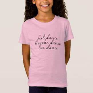 Gefühl, atmen, Livetanz - Rosa T-Shirt