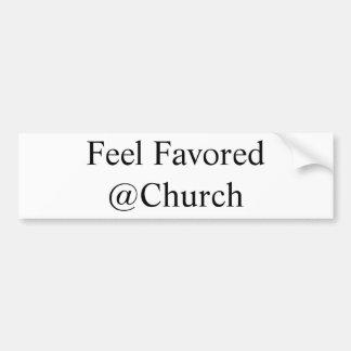 Gefühl bevorzugter @Church Aufkleber Autoaufkleber