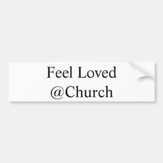 """Gefühl geliebtes @Church"" Aufkleber Autoaufkleber"