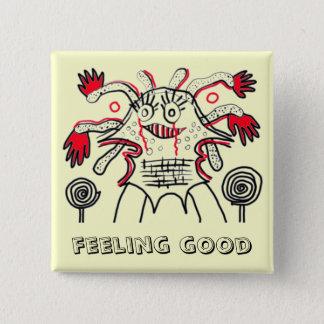 Gefühl gut quadratischer button 5,1 cm