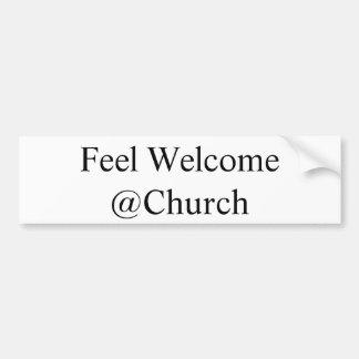 """Gefühl willkommenes @Church"" Aufkleber Autoaufkleber"