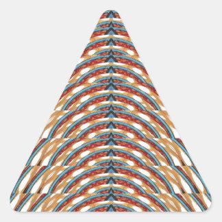 Gefühl YOGA Drehung einwärts n die ATMUNG - Schein Dreieckiger Aufkleber