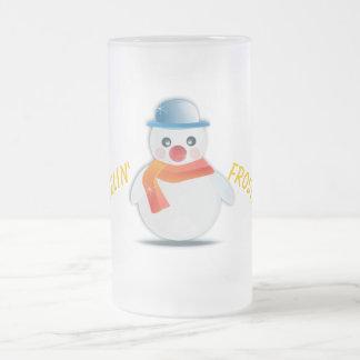 Gefühleisige Snowman-Tasse Mattglas Bierglas