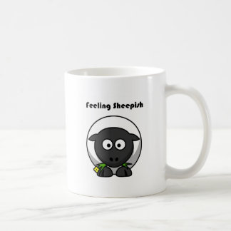 Gefühls-ängstlicher Lamm-Cartoon Kaffeetasse