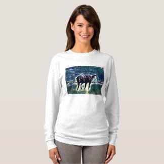 Gefühls-Frisky Pferdekunst T-Shirt