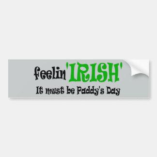 Gefühls-Iren - Paddys Tag Autoaufkleber