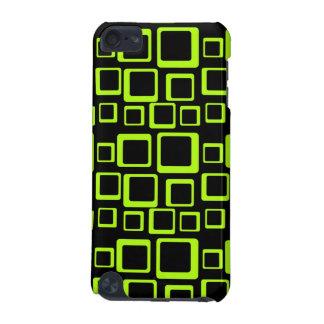 Gefühls-Sechziger Fluo Grün auf schwarzem iPod Touch 5G Hülle