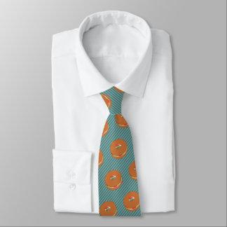 Gefüllter Bagel - wählen Sie Hintergrund-Farbe - Personalisierte Krawatte