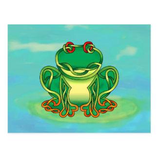 Gefüllter Frosch Postkarte
