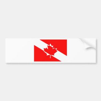 Gefülltes weißes Tauchen Kanada Autoaufkleber